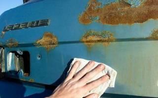 Чем закрасить ржавчину на автомобиле
