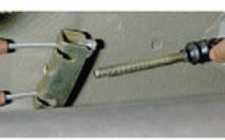Лада калина регулировка ручника