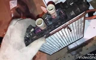 Радиатор отопителя приора с кондиционером halla