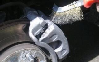 Медная смазка попала на тормозной диск