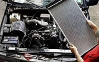 Разборка радиатора охлаждения двигателя