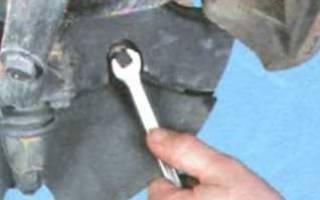 Снятие переднего тормозного диска