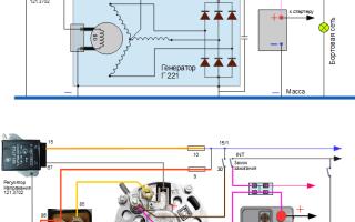 Схема подключения реле регулятора на ваз 2106