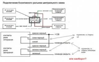 Схема подключения центрального замка старлайн а91