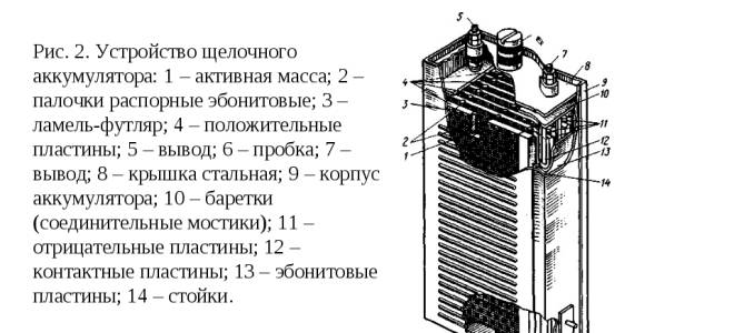 Принцип работы щелочного аккумулятора