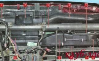 Снятие радиатора отопителя лада гранта